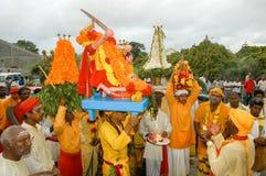 Hindische Feier von Pandiale am Heiligen Andre auf La Réunion Lizenzfreies Stockfoto