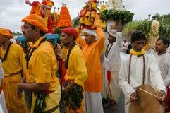 Hindische Feier von Pandiale am Heiligen Andre auf La Réunion Stockfotos