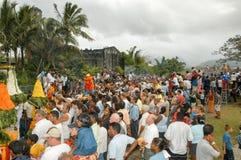 Hindische Feier von Pandiale am Heiligen Andre auf La Réunion Lizenzfreie Stockbilder