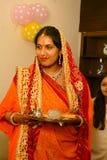 Hindische Frau Stockfoto