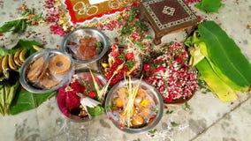 Hindische Hochzeit yagna Zeremonievorbereitung Lizenzfreies Stockbild