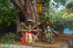 Hindische Idole stockbild