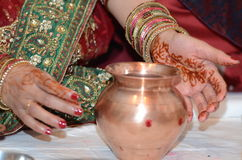 Hindische religiöse Feier Stockfoto