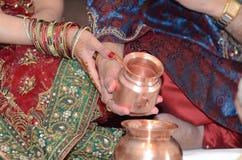 Hindische religiöse Feier Stockbilder