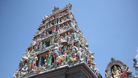 Hindische Skulptur an Tempel Sri Mariamman stockbild