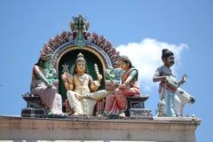 Hindische Skulptur an Tempel Sri Mariamman stockbilder