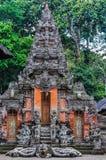 Hindische Tempel im Affe-Wald in Ubud, Bali Lizenzfreie Stockbilder