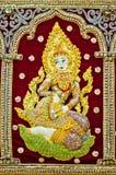 Hindische weibliche Göttin stockfotos