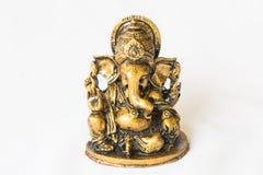 Hindischer Gott Ganesh Statue auf Weiß Lizenzfreie Stockbilder