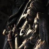 Hindischer Gott Krishna und hindische Göttinnen Radha. stockbild