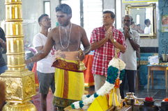 Hindischer Priester Lizenzfreies Stockfoto