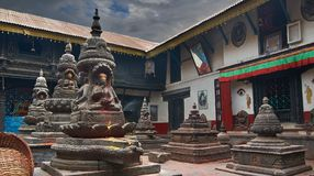 Hindischer Tempel Stockfotos