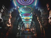 Hindischer Tempel Meenakshi stockbild