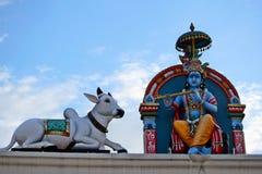 Hindischer Tempel Sri Mariamman von Singapur Lizenzfreie Stockfotos