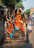 Hindisches Festival in Kolkata, Indien Stockfotografie