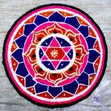 Hindisches Mandala pooja stockbilder