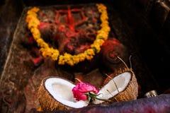 Hindisches Ritual-Angebot Stockfoto