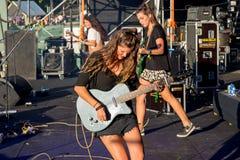 Hindmusikband i konsert på den Dcode festivalen Royaltyfria Foton