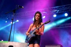 Hindmusikband i konsert på FIB festivalen Royaltyfria Foton