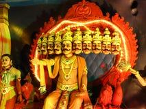 Hindoeïsmegod geschilderde standbeelden Stock Foto