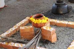 Hindoes die godsdienstfestival in Kerala wordt gehouden stock afbeeldingen