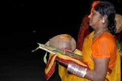 Hindoes Festival Chatt royalty-vrije stock foto's