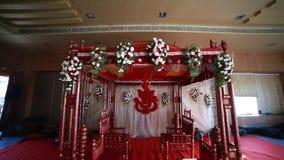 Hindoes huwelijk Mandap stock video