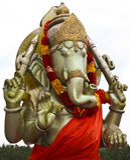 Hindoes standbeeld in Groot Bassin Stock Afbeeldingen