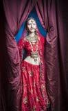 Hindoese bruid klaar voor huwelijk Stock Foto