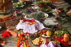 Hindoese ceremonie in Nepal, Shivaratri Royalty-vrije Stock Foto's