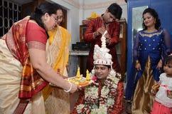 Hindoese familie Stock Fotografie