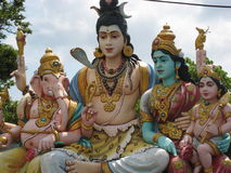 Hindoese Ganesh Shiva en Parvati Stock Afbeelding
