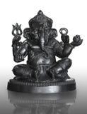 Hindoese God Ganesha die op wit wordt geïsoleerd Stock Foto's