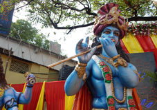 Hindoese God Krishna Stock Foto's