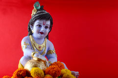 Hindoese God Krishna royalty-vrije stock foto's