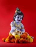 Hindoese God Krishna stock afbeelding