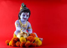 Hindoese God Krishna stock afbeeldingen