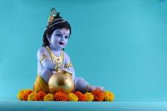 Hindoese God Krishna royalty-vrije stock afbeelding