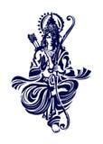 Hindoese god Rama royalty-vrije illustratie