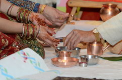 Hindoese godsdienstige ceremonie Royalty-vrije Stock Afbeelding