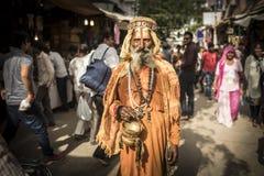 Hindoese goeroe in Pushkar, Rajasthan Royalty-vrije Stock Fotografie