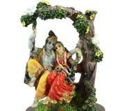 Hindoese illustratie die van radha-Krishna lo betekent stock afbeelding