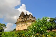 Hindoese Khajuraho en Jain-tempels, India stock foto's