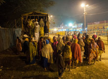 Hindoese liefhebbers, Babughat, Kolkata Stock Foto's