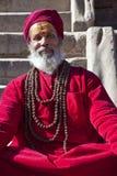 Hindoese Priester, Patan, Nepal Stock Afbeelding