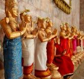 Hindoese standbeelden stock foto's