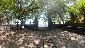 Hindoese tempel in Bali stock video