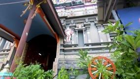 Hindoese tempel in de Seychellen stock video