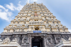 Hindoese tempel gopuram Kanchipuram India Royalty-vrije Stock Afbeelding