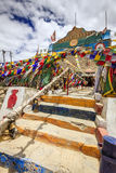 Hindoese tempel in Himalayagebergte Royalty-vrije Stock Fotografie